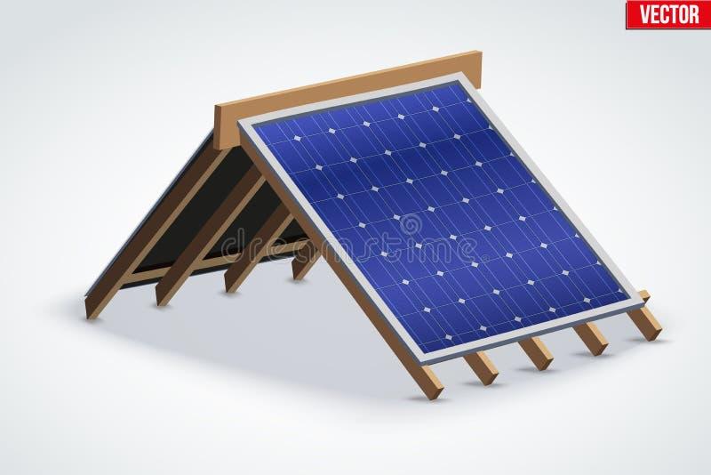 Στέγη εικονιδίων με την κάλυψη ηλιακού πλαισίου ελεύθερη απεικόνιση δικαιώματος