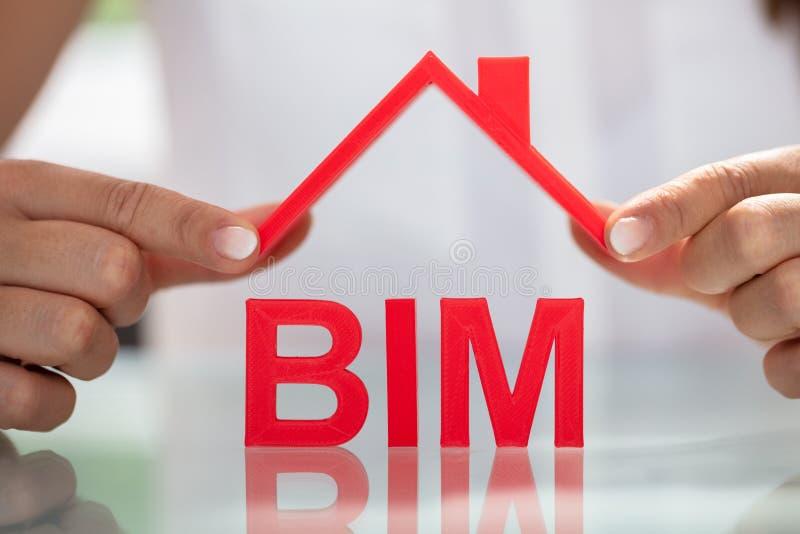 Στέγη εκμετάλλευσης επιχειρηματιών άνω των BIM στοκ φωτογραφίες με δικαίωμα ελεύθερης χρήσης
