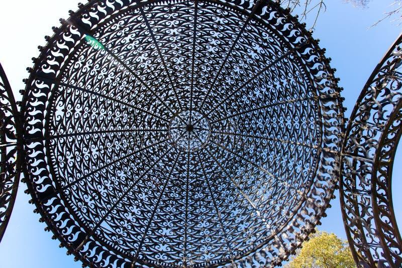 Στέγη επεξεργασμένου σιδήρου στοκ εικόνες