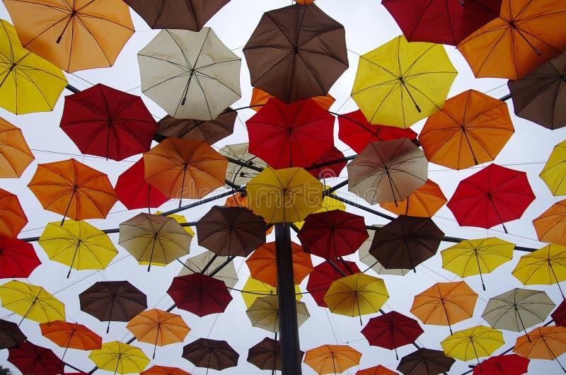 Στέγη ομπρελών στοκ εικόνες με δικαίωμα ελεύθερης χρήσης