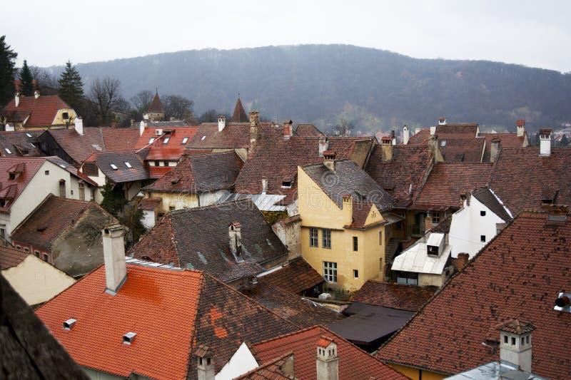 Στέγη στην παλαιά πόλη στοκ εικόνες