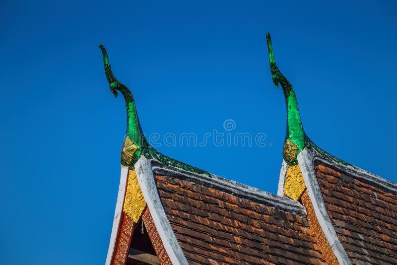 Στέγη τέχνης του λουριού Wat Xieng σε Luang Prabang στοκ φωτογραφία με δικαίωμα ελεύθερης χρήσης