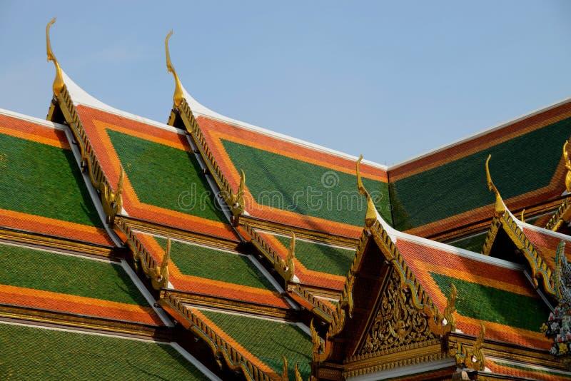 Στέγη του μεγάλου παλατιού της Μπανγκόκ, Ταϊλάνδη στοκ εικόνες με δικαίωμα ελεύθερης χρήσης