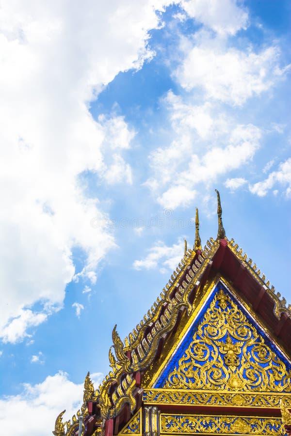 Στέγη του ναού Ταϊλανδός στοκ εικόνα με δικαίωμα ελεύθερης χρήσης