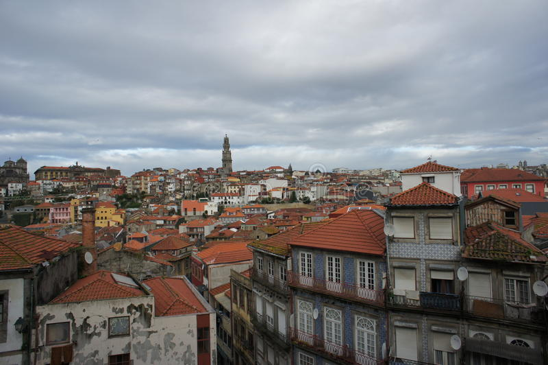 Στέγη του Πόρτο, Πορτογαλία στοκ φωτογραφία με δικαίωμα ελεύθερης χρήσης