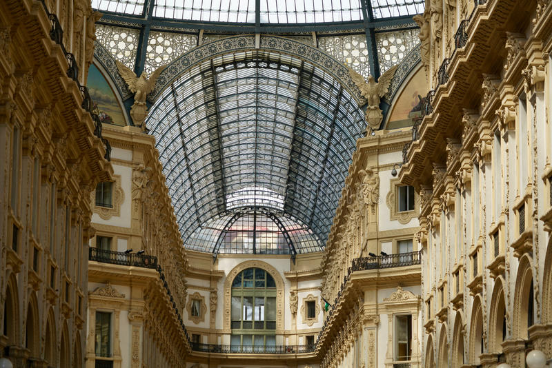 Στέγη του Galleria Vittorio Emanuele στοκ φωτογραφίες