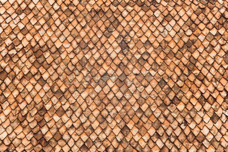 Στέγη φιαγμένη από παλαιά κεραμίδια στοκ εικόνες
