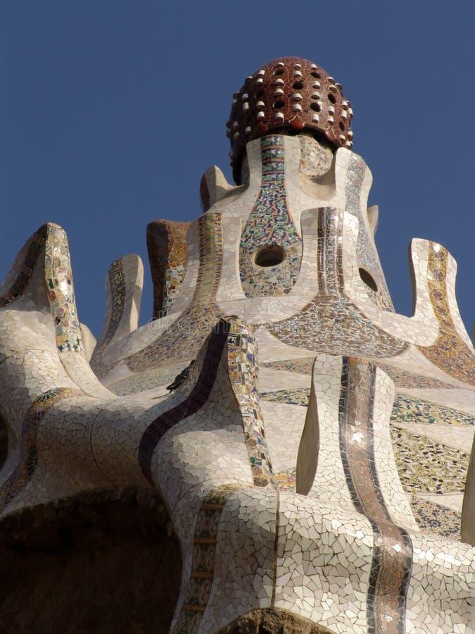 στέγη gaudi στοκ φωτογραφία