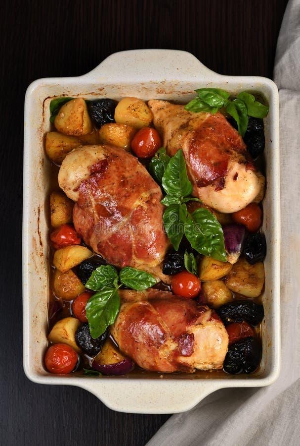 Στήθος κοτόπουλου Prosciutto στοκ φωτογραφίες με δικαίωμα ελεύθερης χρήσης