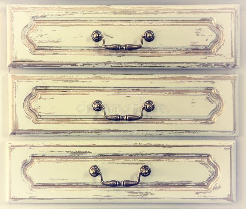 Στήθος των συρταριών, ένα τεμάχιο, εκλεκτής ποιότητας, αναδρομικό στοκ φωτογραφία