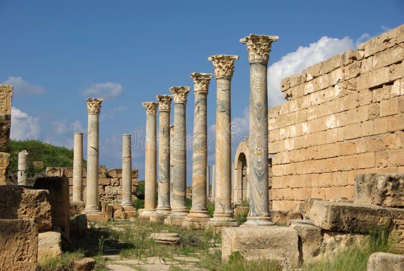 στήλες Λιβύη Ρωμαίος στοκ εικόνες