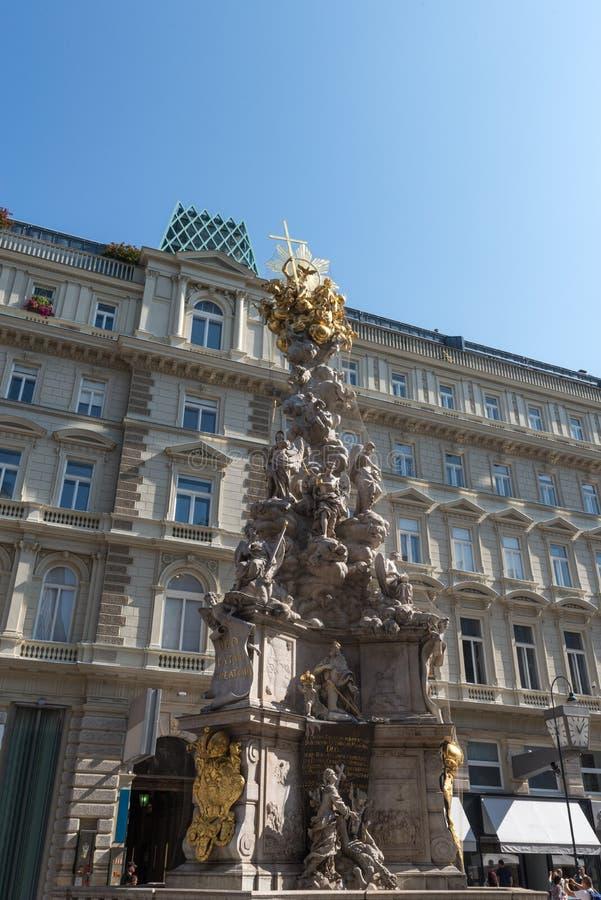 Στήλη πανούκλας το Σεπτέμβριο του 2017 της Βιέννης Αυστρία στοκ εικόνα με δικαίωμα ελεύθερης χρήσης