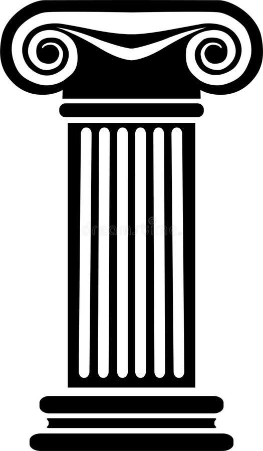 στήλη eps ελληνικά διανυσματική απεικόνιση