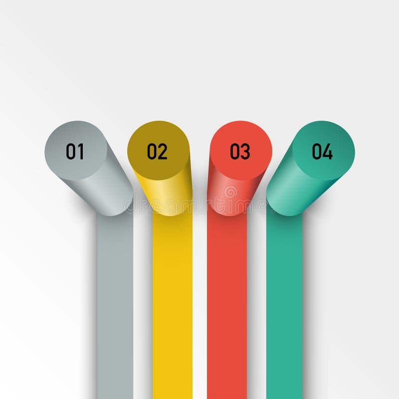 Στήλες διαγραμμάτων με τα στοιχεία σας διανυσματική απεικόνιση