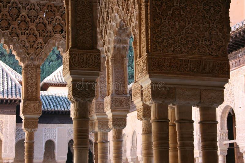 Στήλες Patio de Los Leones στοκ εικόνες