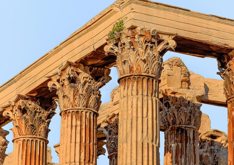 Στήλη, ο πέμπτος αιώνας Π.Χ. στοκ εικόνες