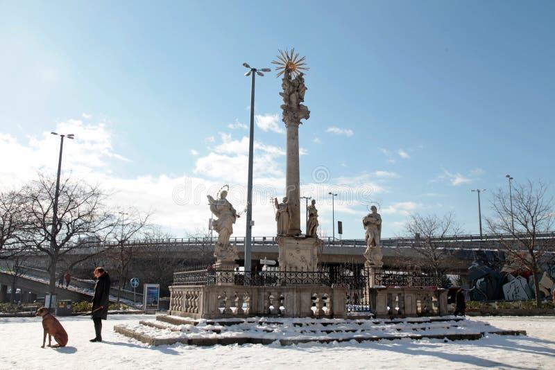 Στήλη πανούκλας StTrinity, Μπρατισλάβα, Σλοβακία στοκ φωτογραφίες