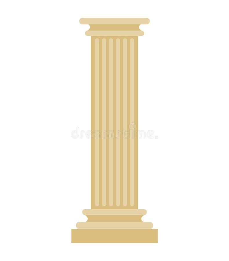 Στήλη που απομονώνεται ελληνική Παλαιός μετα αρχαίος αρχιτεκτονικός στυλοβάτης ελεύθερη απεικόνιση δικαιώματος