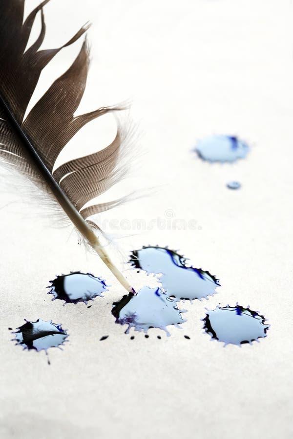 Στίγμα από μελάνη σε χαρτί στοκ φωτογραφία με δικαίωμα ελεύθερης χρήσης