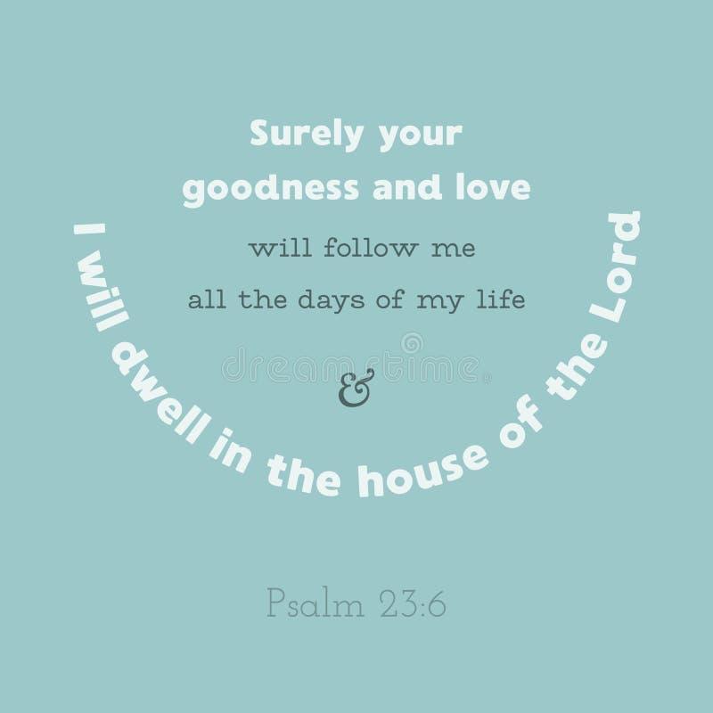 Στίχος Βίβλων από τον ψαλμό διανυσματική απεικόνιση