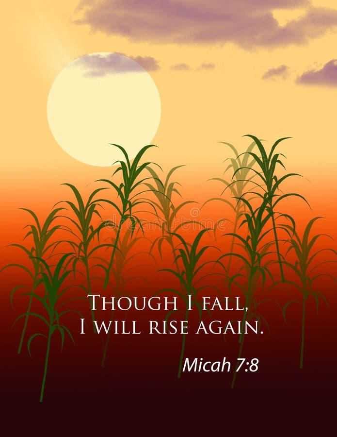 Στίχος Micah 7:8 Βίβλων διανυσματική απεικόνιση