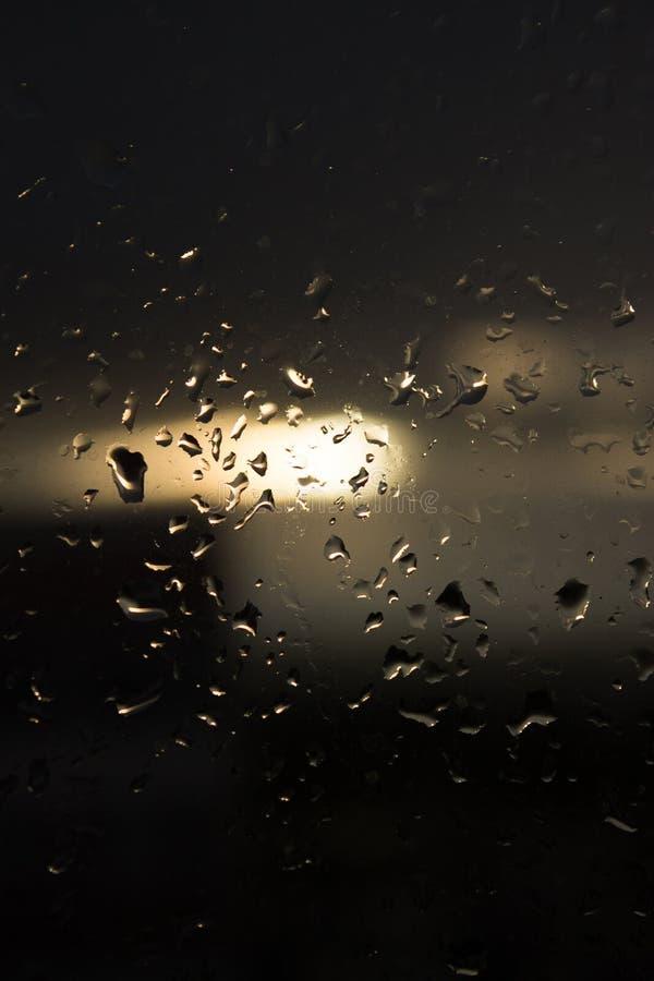 σταγόνες βροχής γυαλιού στοκ φωτογραφία