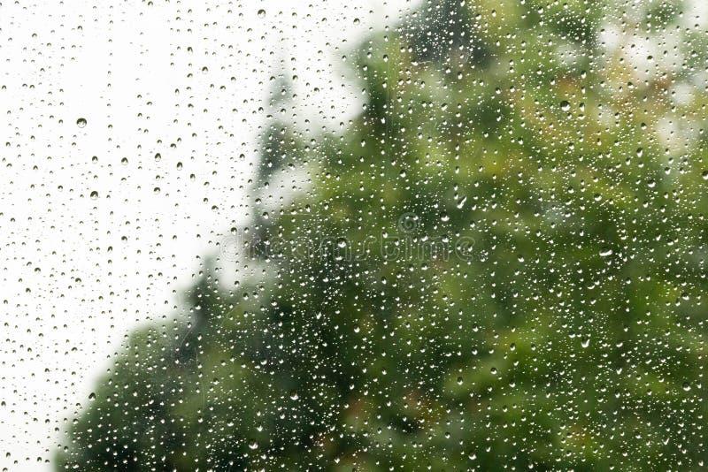 Σταγόνες βροχής στο παράθυρο στοκ εικόνες