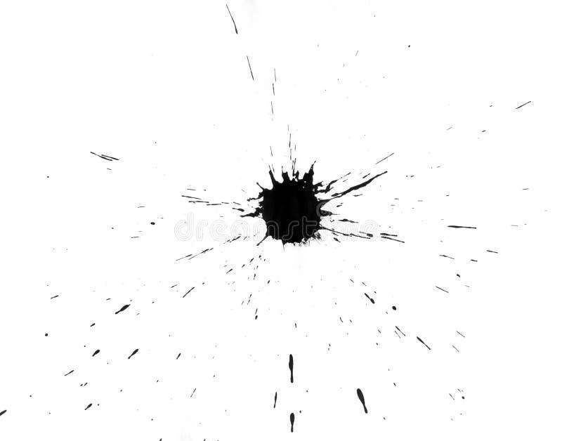 σταγόνες ν που τίθενται Splats Στοκ Φωτογραφίες