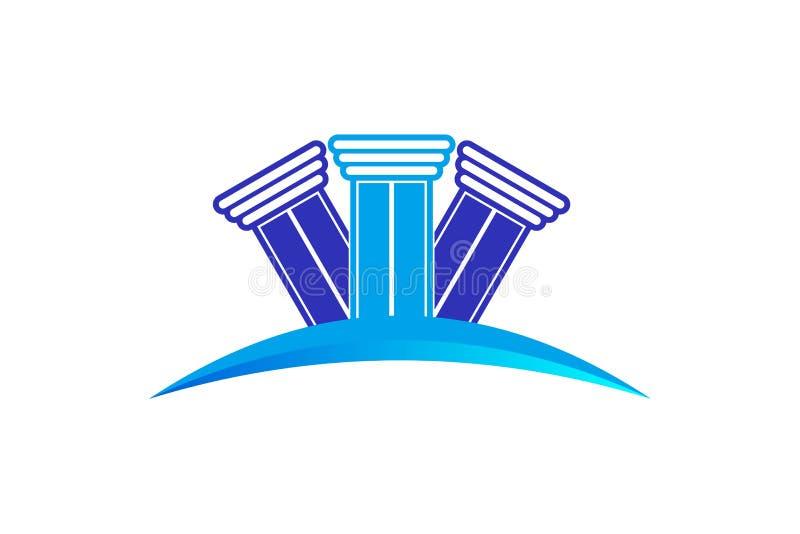 Σταθερό σχέδιο λογότυπων στυλοβατών νόμου ελεύθερη απεικόνιση δικαιώματος