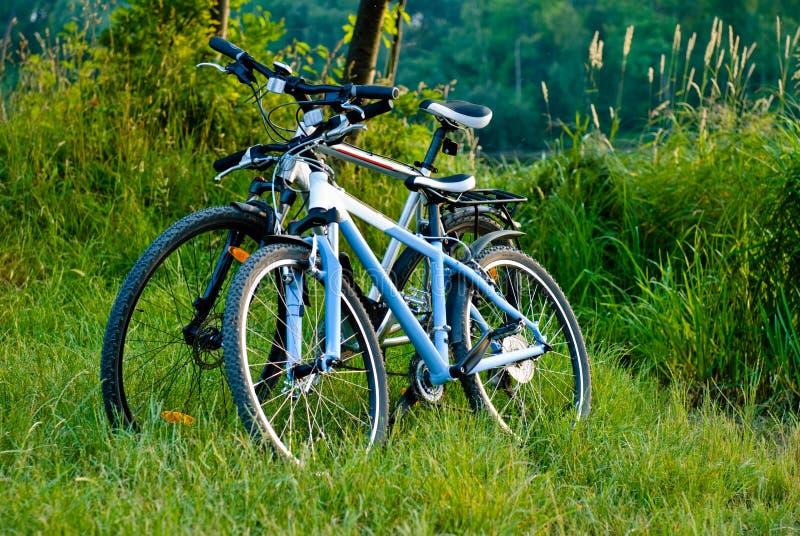 σταθμευμένη λιμνών ποδηλάτ στοκ φωτογραφία με δικαίωμα ελεύθερης χρήσης