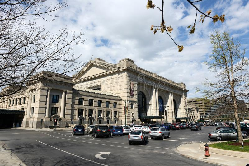 Σταθμός ένωσης στην πόλη του Κάνσας, ΗΠΑ στοκ εικόνες