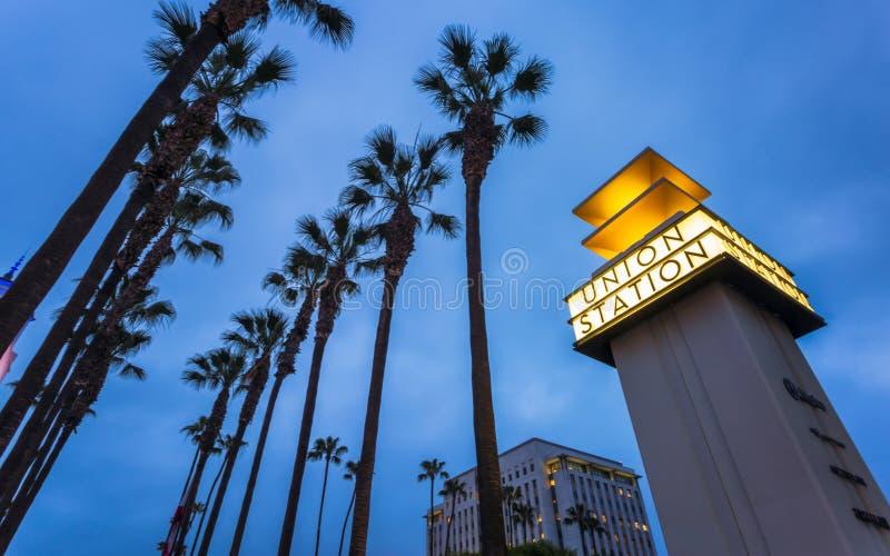 Σταθμός ένωσης, στο κέντρο της πόλης Λος Άντζελες, Καλιφόρνια, Ηνωμένες Πολιτείες της Αμερικής στοκ εικόνες
