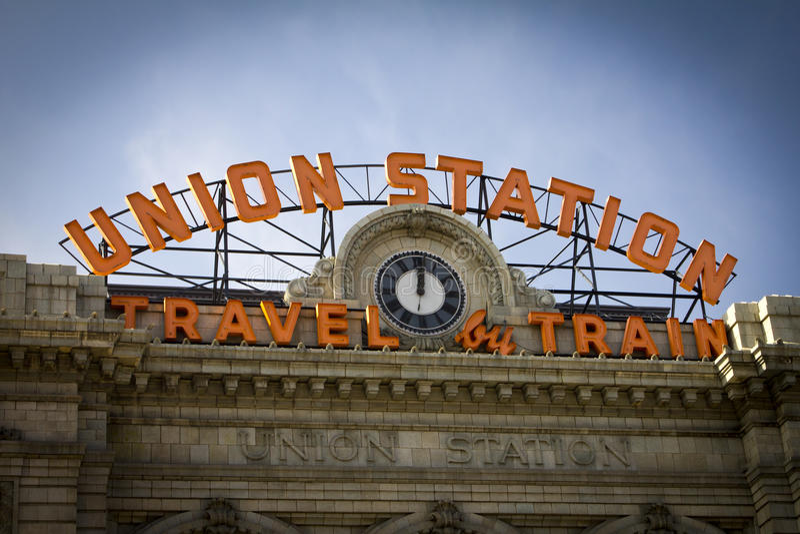 Σταθμός ένωσης στο Ντένβερ Κολοράντο στοκ εικόνες με δικαίωμα ελεύθερης χρήσης