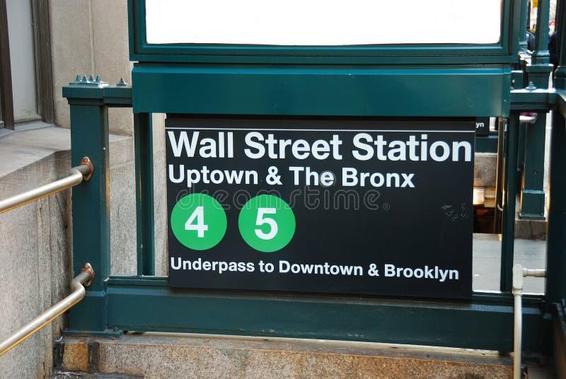 Σταθμός Γουώλ Στρητ, πόλη της Νέας Υόρκης στοκ φωτογραφία