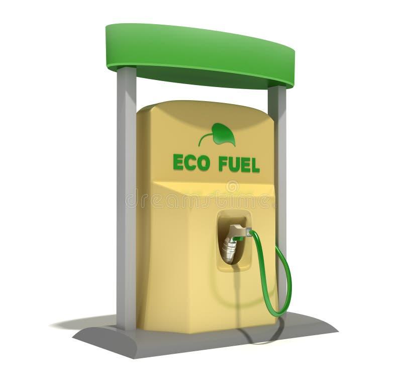 σταθμός καυσίμων eco διανυσματική απεικόνιση