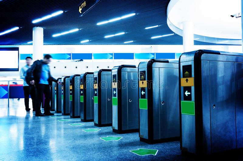 Σταθμός μετρό αιθουσών στοκ εικόνες