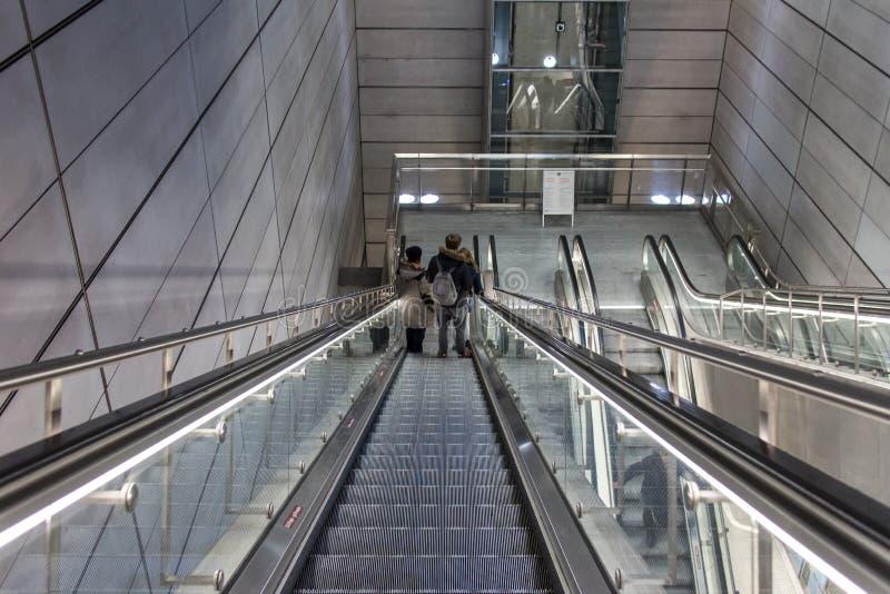 Σταθμός μετρό στην Κοπεγχάγη στοκ φωτογραφίες με δικαίωμα ελεύθερης χρήσης
