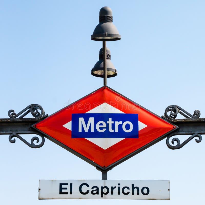 Σταθμός μετρό στη Μαδρίτη στοκ φωτογραφία