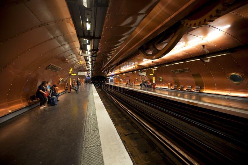 σταθμός μετρό στοκ εικόνα