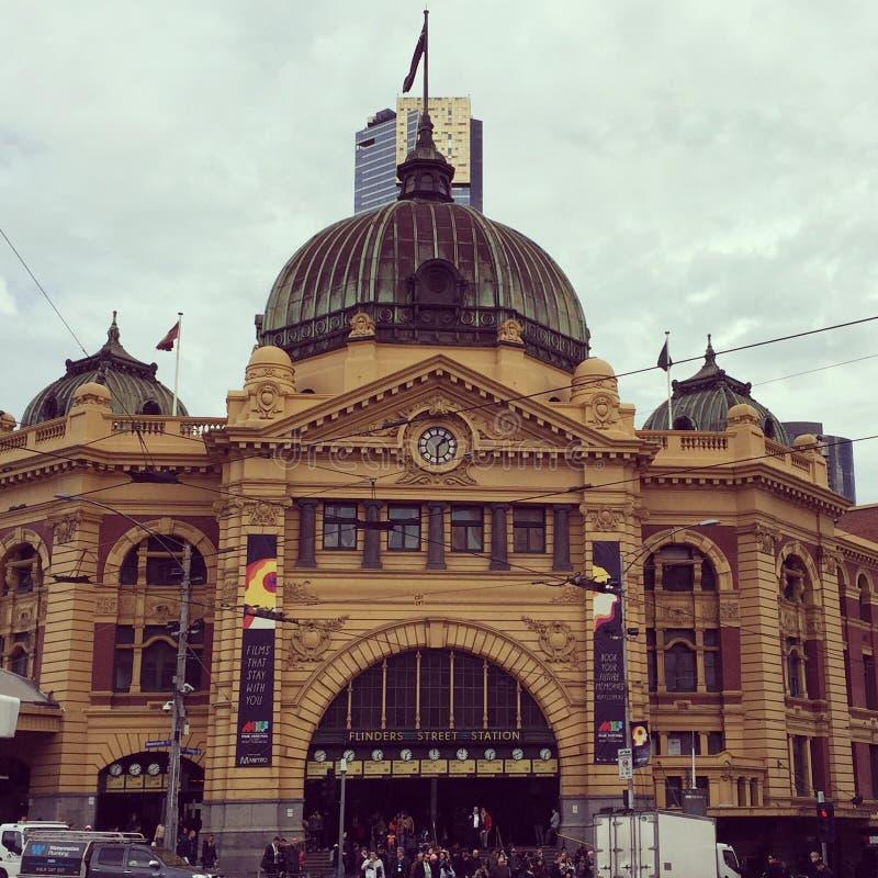 Σταθμός Μελβούρνη Flinders στοκ φωτογραφίες με δικαίωμα ελεύθερης χρήσης