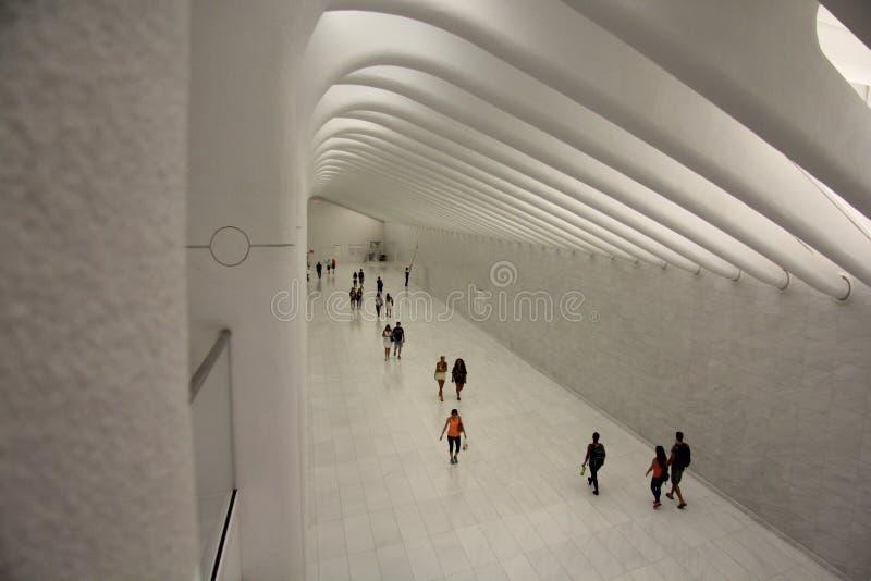 Σταθμός Νέα Υόρκη πλημνών του World Trade Center στοκ εικόνες