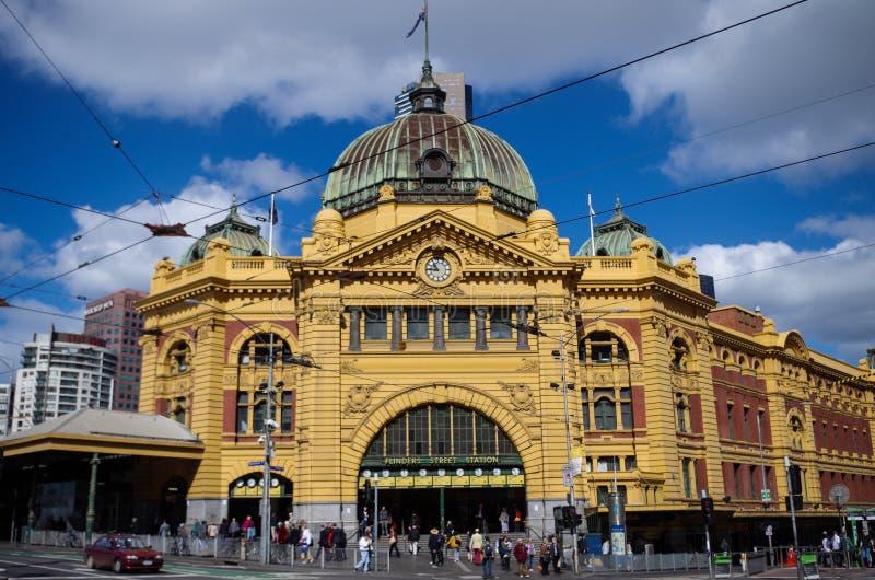 Σταθμός οδών Flinders στη Μελβούρνη στοκ εικόνα με δικαίωμα ελεύθερης χρήσης