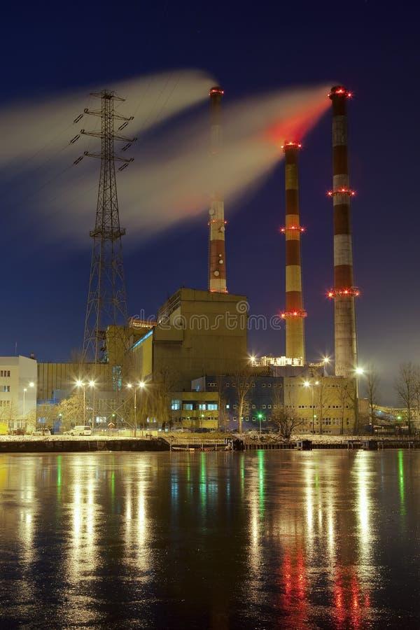 σταθμός παραγωγής ηλεκτρικού ρεύματος στοκ φωτογραφία