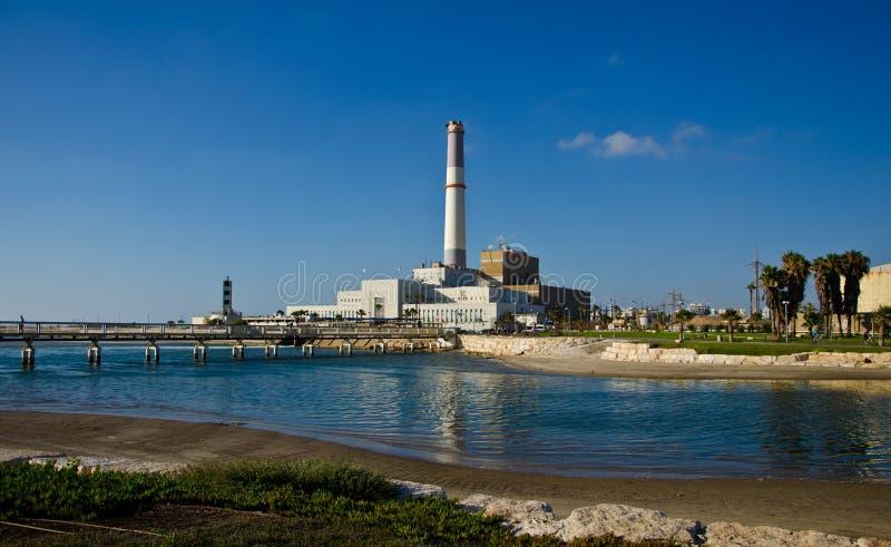 Σταθμός παραγωγής ηλεκτρικού ρεύματος του Τελ Αβίβ στοκ εικόνα