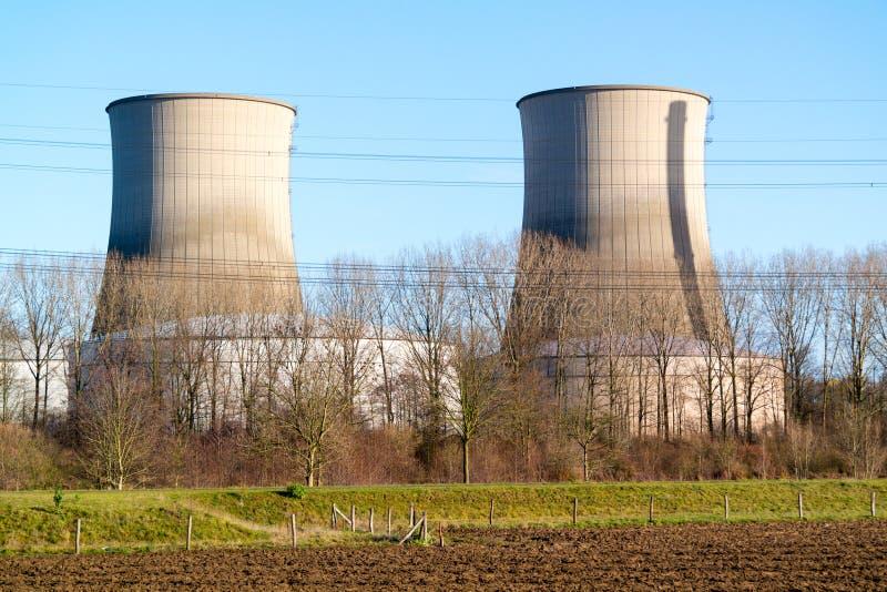 Σταθμός παραγωγής ηλεκτρικού ρεύματος Clauscentrale σε Maasbracht, Κάτω Χώρες στοκ εικόνες με δικαίωμα ελεύθερης χρήσης