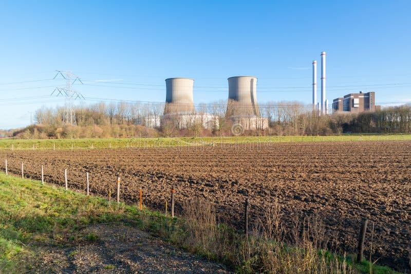 Σταθμός παραγωγής ηλεκτρικού ρεύματος Clauscentrale σε Maasbracht, Κάτω Χώρες στοκ εικόνα με δικαίωμα ελεύθερης χρήσης