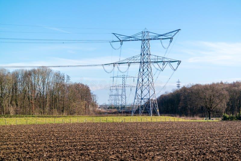 Σταθμός παραγωγής ηλεκτρικού ρεύματος Clauscentrale σε Maasbracht, Κάτω Χώρες στοκ φωτογραφίες