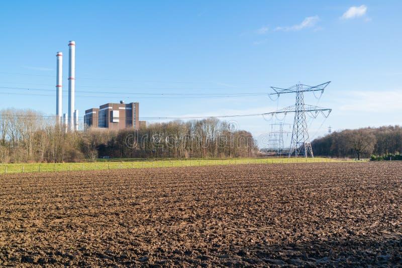 Σταθμός παραγωγής ηλεκτρικού ρεύματος Clauscentrale σε Maasbracht, Κάτω Χώρες στοκ φωτογραφίες με δικαίωμα ελεύθερης χρήσης