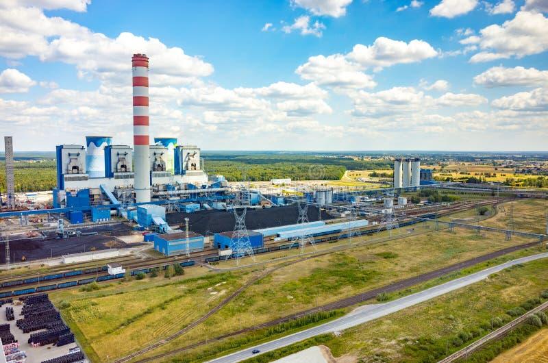 Σταθμός παραγωγής ηλεκτρικού ρεύματος Opole στοκ εικόνες με δικαίωμα ελεύθερης χρήσης