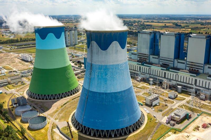 Σταθμός παραγωγής ηλεκτρικού ρεύματος Opole στοκ φωτογραφίες